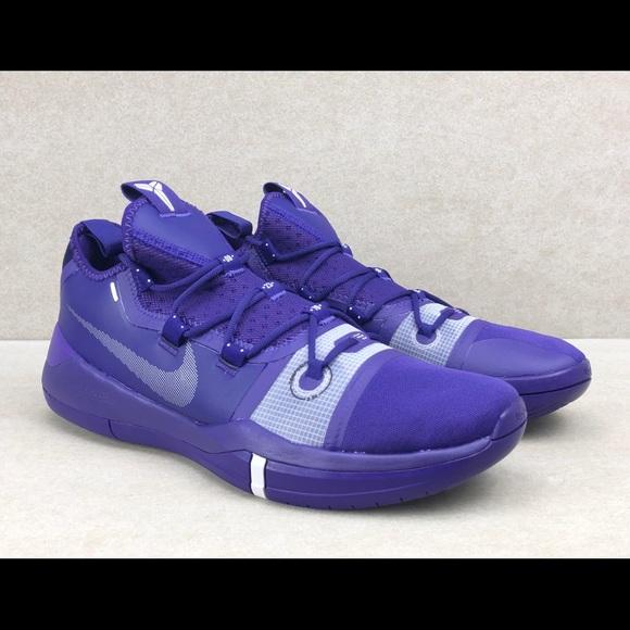 purple white basketball shoes